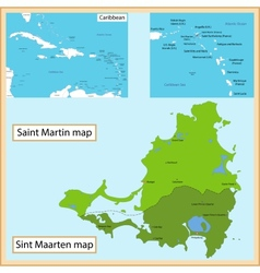 Saint martin and sint maarten vector