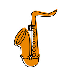 saxophone jazz instrument musical festival vector image vector image