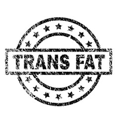 Scratched textured trans fat stamp seal vector