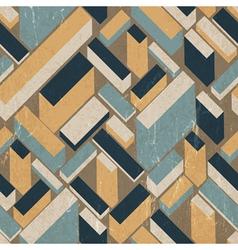 Seamless vintage buildings pattern vector