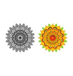 Set mandala different color vector