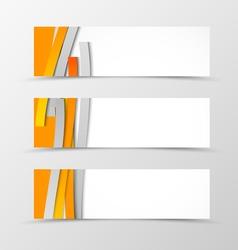 Set of header banner minimalistic design vector image vector image