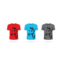 set of horse t-shirts vector image