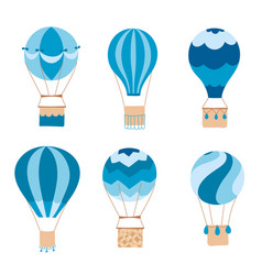 set of hot air balloons vector image