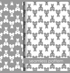 set of seamless pattern with mouse vector image