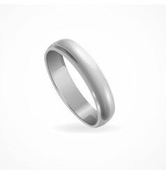 Shining Silver Ring vector image