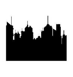 silhouette city buildings skyline downtown vector image