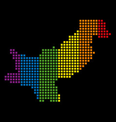 spectrum dotted lgbt pakistan map vector image