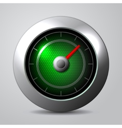 Speedometer in the car isolate vector image