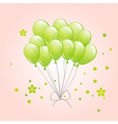 spring background with balloons vector image
