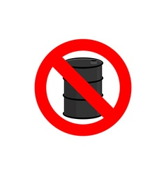 Stop oil barrel Fuel is forbidden Frozen barrel vector
