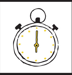 stopwatch hand drawn outline doodle icon vector image