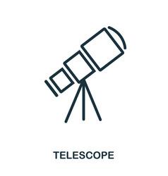 telescope icon flat style icon design ui vector image