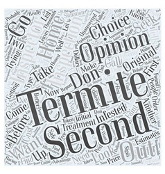 Termite Inspection Second Opinion Word Cloud vector image