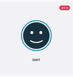 Two color emot icon from user interface concept vector