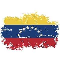 Venezuelan grunge flag vector