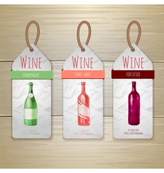 Watercolor Wine concept design Corporate identity vector image