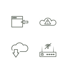 web outline icons set vector image