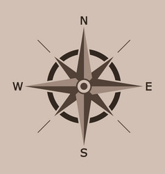 wind rose isolated north vector image