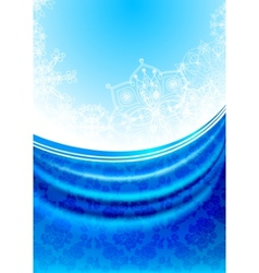 blue fabric curtain white snowflakes background vector image vector image