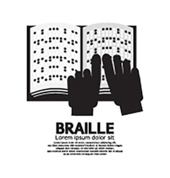 Braille language reading by the blind vector
