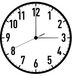 clock-001 vector image vector image