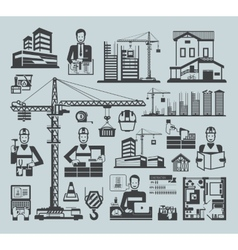 Icons construction vector image vector image