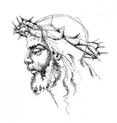 Jesus christ sketch vector