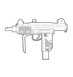 outline uzi vector image vector image