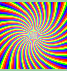 rainbow twist abstract background vector image