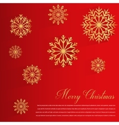 Abstract design with golden Snowflakes and Merry vector image