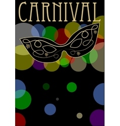 Carnival background mask decorated with gold vector image vector image