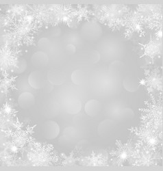 christmas background with frame of snowflakes vector image vector image