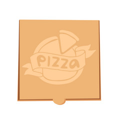 closed pizza box delivery vector image