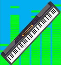 Electronic synthesizer isolated vector image