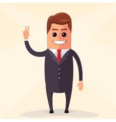 flat design Business man vector image vector image