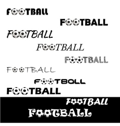 Football text for logo the team and the cup vector image
