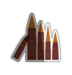 isolated bullets gun vector image