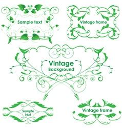 Leaves frames - set design elements vector image vector image
