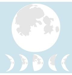 Moon phases moon vector