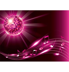 music background disco ball vector image