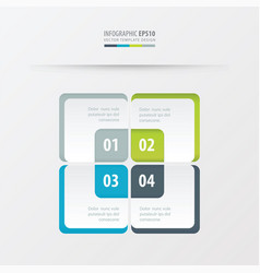 rectangle presentation template green blue vector image