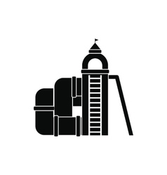 Slide with a roof icon vector image