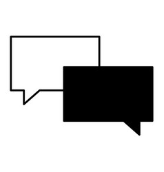 speech bubble message talk chat icon vector image