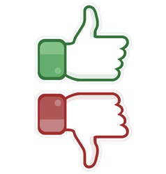 Thumb up and down vector image vector image