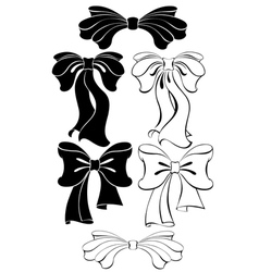 black bow vector image vector image