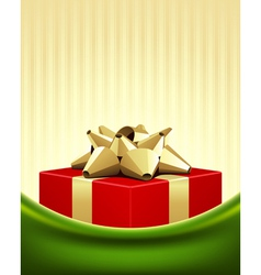 christmas red box background vector image