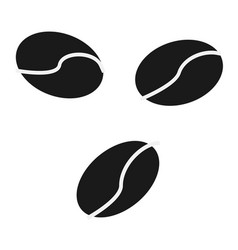 coffee beans icon simple flat logo of coffee vector image