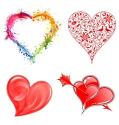 Collect Valentines Day Hearts vector image