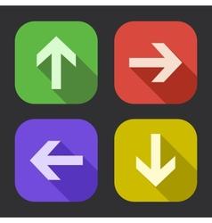 Flat design arrow vector image